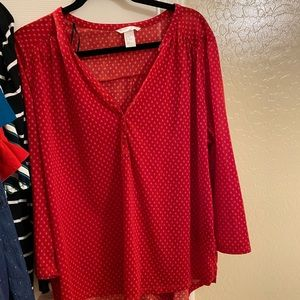 Beautiful vibrant red blouse